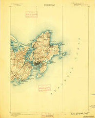 Gloucester Massachusetts Historical topographic map, 1:62500 scale, 15 X 15 Minute, Year 1888