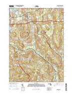 Grafton Massachusetts Current topographic map, 1:24000 scale, 7.5 X 7.5 Minute, Year 2015 from Massachusetts Map Store