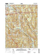 Grafton Massachusetts Current topographic map, 1:24000 scale, 7.5 X 7.5 Minute, Year 2015 from Massachusetts Maps Store