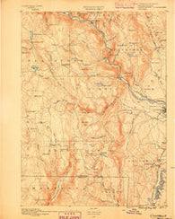 Granville Massachusetts Historical topographic map, 1:62500 scale, 15 X 15 Minute, Year 1889