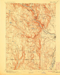 Granville Massachusetts Historical topographic map, 1:62500 scale, 15 X 15 Minute, Year 1895