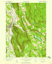 Great Barrington Massachusetts Historical topographic map, 1:24000 scale, 7.5 X 7.5 Minute, Year 1946