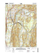 Greenfield Massachusetts Current topographic map, 1:24000 scale, 7.5 X 7.5 Minute, Year 2015 from Massachusetts Maps Store