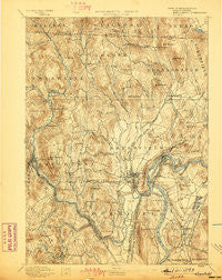 Greenfield Massachusetts Historical topographic map, 1:62500 scale, 15 X 15 Minute, Year 1894