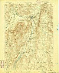 Greylock Massachusetts Historical topographic map, 1:62500 scale, 15 X 15 Minute, Year 1886