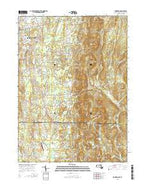Hampden Massachusetts Current topographic map, 1:24000 scale, 7.5 X 7.5 Minute, Year 2015 from Massachusetts Map Store