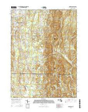 Hampden Massachusetts Current topographic map, 1:24000 scale, 7.5 X 7.5 Minute, Year 2015 from Massachusetts Maps Store