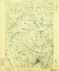 Haverhill New Hampshire Historical topographic map, 1:62500 scale, 15 X 15 Minute, Year 1890