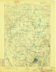 Haverhill New Hampshire Historical topographic map, 1:62500 scale, 15 X 15 Minute, Year 1893