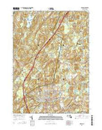 Hudson Massachusetts Current topographic map, 1:24000 scale, 7.5 X 7.5 Minute, Year 2015 from Massachusetts Map Store