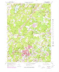 Hudson Massachusetts Historical topographic map, 1:25000 scale, 7.5 X 7.5 Minute, Year 1966