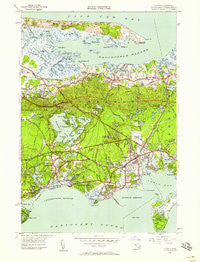 Hyannis Massachusetts Historical topographic map, 1:24000 scale, 7.5 X 7.5 Minute, Year 1950