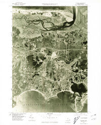 Hyannis Massachusetts Historical topographic map, 1:25000 scale, 7.5 X 7.5 Minute, Year 1977