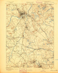 Lawrence Massachusetts Historical topographic map, 1:62500 scale, 15 X 15 Minute, Year 1888