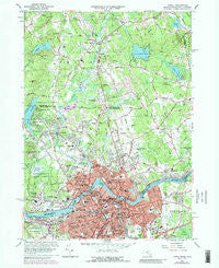 Lowell Massachusetts Historical topographic map, 1:24000 scale, 7.5 X 7.5 Minute, Year 1966