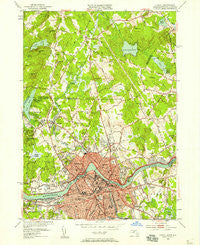 Lowell Massachusetts Historical topographic map, 1:24000 scale, 7.5 X 7.5 Minute, Year 1950