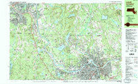 Lowell Massachusetts Historical topographic map, 1:25000 scale, 7.5 X 15 Minute, Year 1987