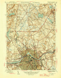 Lowell Massachusetts Historical topographic map, 1:31680 scale, 7.5 X 7.5 Minute, Year 1946