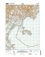 Lynn Massachusetts Current topographic map, 1:24000 scale, 7.5 X 7.5 Minute, Year 2015 from Massachusetts Map Store