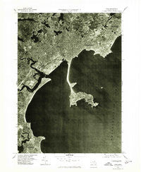 Lynn Massachusetts Historical topographic map, 1:25000 scale, 7.5 X 7.5 Minute, Year 1977