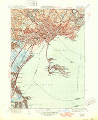 Lynn Massachusetts Historical topographic map, 1:31680 scale, 7.5 X 7.5 Minute, Year 1946