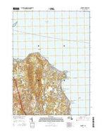 Manomet Massachusetts Current topographic map, 1:24000 scale, 7.5 X 7.5 Minute, Year 2015 from Massachusetts Map Store