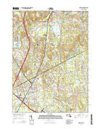 Mansfield Massachusetts Current topographic map, 1:24000 scale, 7.5 X 7.5 Minute, Year 2015 from Massachusetts Map Store