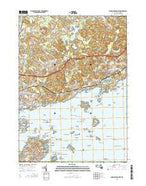 Marblehead North Massachusetts Current topographic map, 1:24000 scale, 7.5 X 7.5 Minute, Year 2015 from Massachusetts Map Store