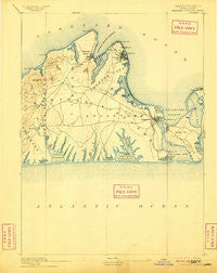 Marthas Vineyard Massachusetts Historical topographic map, 1:62500 scale, 15 X 15 Minute, Year 1894