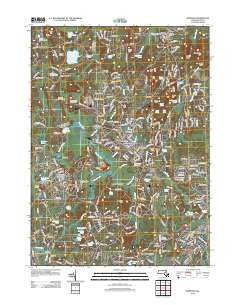Medfield Massachusetts Historical topographic map, 1:24000 scale, 7.5 X 7.5 Minute, Year 2012