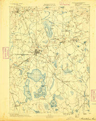 Middleboro Massachusetts Historical topographic map, 1:62500 scale, 15 X 15 Minute, Year 1888
