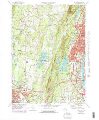 Mount Tom Massachusetts Historical topographic map, 1:25000 scale, 7.5 X 7.5 Minute, Year 1972