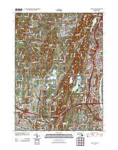 Mount Tom Massachusetts Historical topographic map, 1:24000 scale, 7.5 X 7.5 Minute, Year 2012