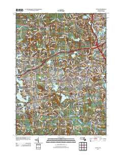 Natick Massachusetts Historical topographic map, 1:24000 scale, 7.5 X 7.5 Minute, Year 2012