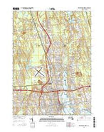 New Bedford North Massachusetts Current topographic map, 1:24000 scale, 7.5 X 7.5 Minute, Year 2015 from Massachusetts Map Store