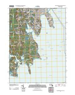 New Bedford South Massachusetts Historical topographic map, 1:24000 scale, 7.5 X 7.5 Minute, Year 2012