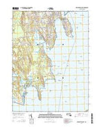New Bedford South Massachusetts Current topographic map, 1:24000 scale, 7.5 X 7.5 Minute, Year 2015 from Massachusetts Map Store