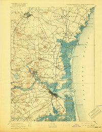 Newburyport New Hampshire Historical topographic map, 1:62500 scale, 15 X 15 Minute, Year 1894