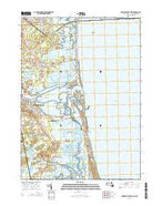Newburyport East Massachusetts Current topographic map, 1:24000 scale, 7.5 X 7.5 Minute, Year 2015 from Massachusetts Map Store