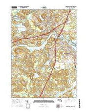 Newburyport West Massachusetts Current topographic map, 1:24000 scale, 7.5 X 7.5 Minute, Year 2015 from Massachusetts Maps Store