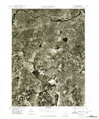 Newton Massachusetts Historical topographic map, 1:25000 scale, 7.5 X 7.5 Minute, Year 1977