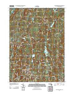North Brookfield Massachusetts Historical topographic map, 1:24000 scale, 7.5 X 7.5 Minute, Year 2012