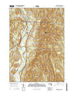 Northfield Massachusetts Current topographic map, 1:24000 scale, 7.5 X 7.5 Minute, Year 2015 from Massachusetts Map Store
