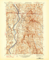 Northfield Massachusetts Historical topographic map, 1:31680 scale, 7.5 X 7.5 Minute, Year 1946