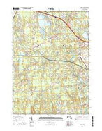 Norton Massachusetts Current topographic map, 1:24000 scale, 7.5 X 7.5 Minute, Year 2015 from Massachusetts Map Store