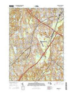 Norwood Massachusetts Current topographic map, 1:24000 scale, 7.5 X 7.5 Minute, Year 2015 from Massachusetts Map Store