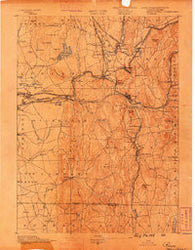 Palmer Massachusetts Historical topographic map, 1:62500 scale, 15 X 15 Minute, Year 1889