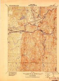 Palmer Massachusetts Historical topographic map, 1:62500 scale, 15 X 15 Minute, Year 1919
