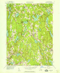 Paxton Massachusetts Historical topographic map, 1:24000 scale, 7.5 X 7.5 Minute, Year 1950