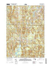 Pepperell Massachusetts Current topographic map, 1:24000 scale, 7.5 X 7.5 Minute, Year 2015 from Massachusetts Maps Store